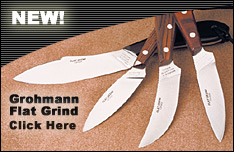 Grohmann Knives Flat Grind Blades